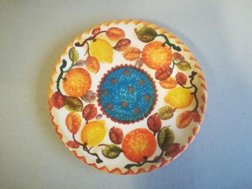"""Piatto Frutta cm 22 dec. """"Frutta circolare """" Fruit plate cm 22 dec. """"Frutta circolare """""""