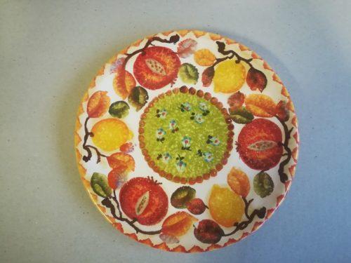 """Piatto Frutta cm 22 dec. """"Frutta circolare """" #1"""