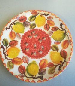 """Piatto Frutta Fruit Plate dec """" Frutta Circolare"""""""