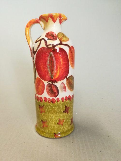 """Oliera cilindrica cm 20 """"Frutta a Fasce"""""""