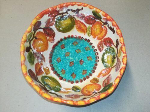 """Bolo Cereali cm16 dec. """"Frutta circolare """" Cereal Bowl cm16 dec. """"Frutta circolare """""""