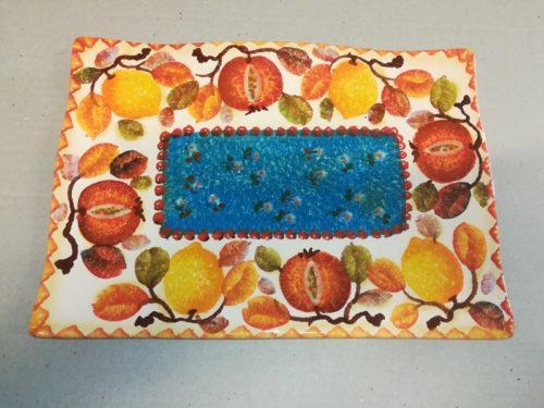 """Vassoio Sushi cm 33×23, Sushi Tray """" Frutta Circolare """""""
