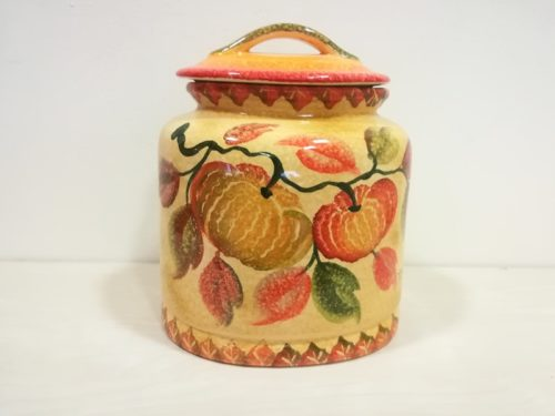 "Biscottiera cm 30, dec ""Zucca"" Biscuits Jar cm dec ""Pumpkin"""