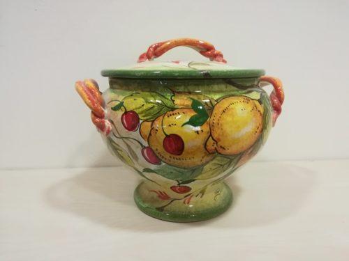 """Zuppiera cm 33 dec """"Limoni e Ciliege"""" Soup tureen 33 cm """"Lemons and Cherries"""""""