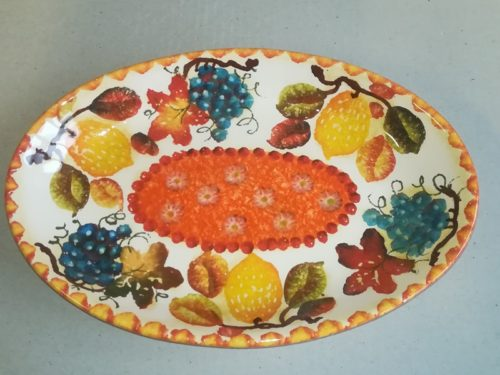 """Vassoio Ovale cm 29×19, Oval Tray """"Frutta Circolare"""""""