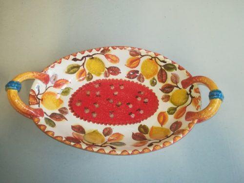Vassoio ovale alto con manici , Deep Oval Platter