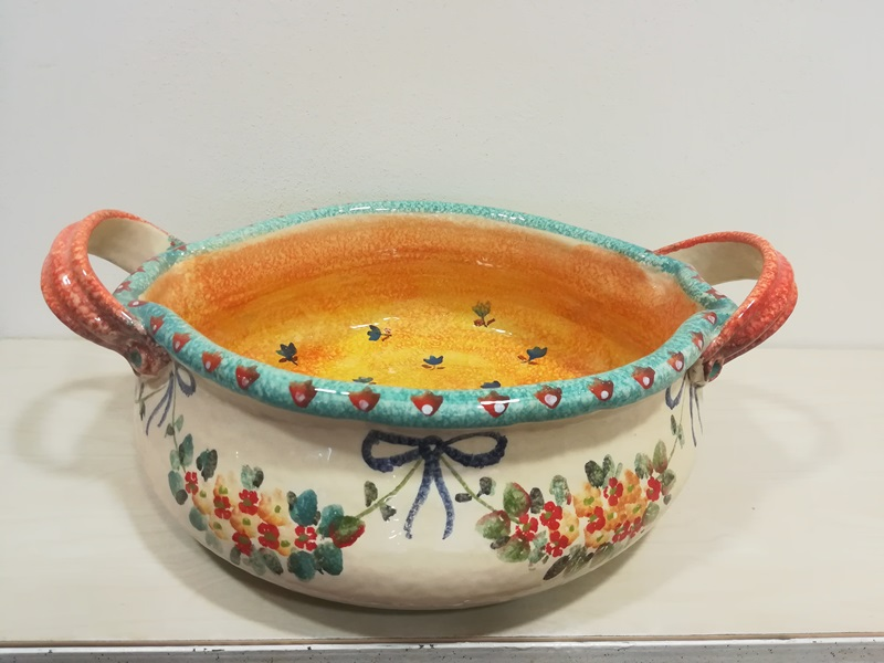 """Centrotavola cm 44x31 , decoro """" Floreale"""" #2 Centerpiece cm 44x31 , decoration """" Floral"""" #2"""