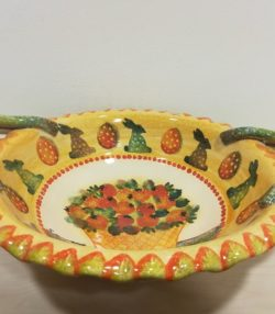 """Centrotavola cm 44x35 , decoro """" Floreale"""" Centerpiece cm 44x35, decoration """" Floral"""""""