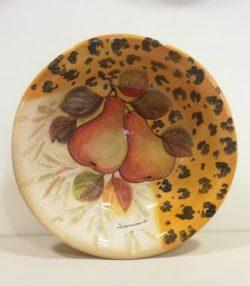 """Insalatiera cm 35 decoro """" Pere"""" Bowl cm 35 decoration """" Pears"""""""