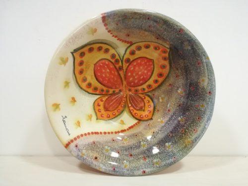 "Insalatiera cm 35 decoro ""Farfalla"" Bowl cm 35 decoration "" Butterfly"""