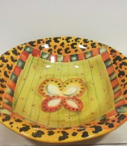 "Insalatiera cm 35 decoro ""Farfalla"" #2 Bowl cm 35 decoration "" Butterfly"" #2"