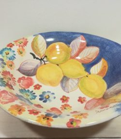 "Insalatiera cm 35 decoro ""Limoni"" Bowl cm 35 decoration ""Lemons"""