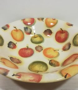 "Insalatiera cm 35 decoro ""Mele"" Bowl cm 35 decoration ""Apples"""